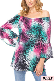 OS-B {Nothing Can Go Wrong} Multi Color Animal Print Tunic PLUS SIZE 1X 2X 3X SALE!!