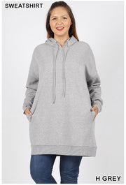 HD-M {Having A Blast} Heather Grey Long Hoodie with Pockets SALE!