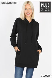 HD-M {Having A Blast} BLACK Long Hoodie with Pockets