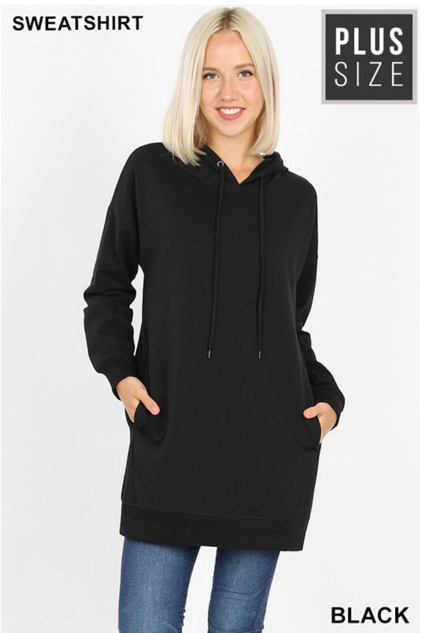 HD-M {Having A Blast} BLACK Long Hoodie with Pockets SALE!