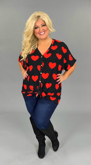 GT-B {Wherever Your Heart Is} Black/Red Top Button Detail  SALE!!