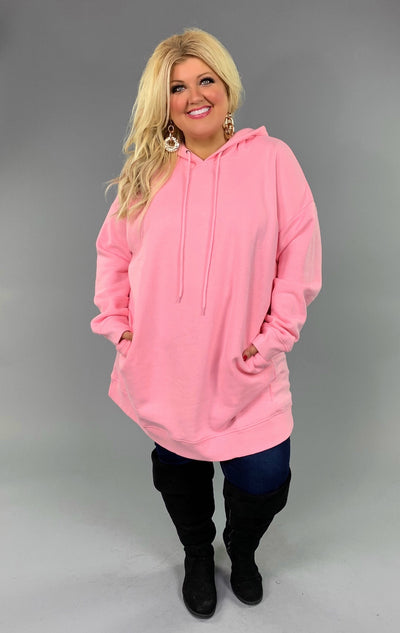 HD-H {Having A Blast} PINK Long Hoodie with Pockets SALE!