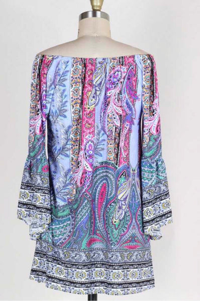 PQ-S {Sweet Moments} Pink/Lavender Paisley Print Dress