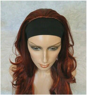 {Diane} Long Red Slight Waves Synthetic Headband Wig