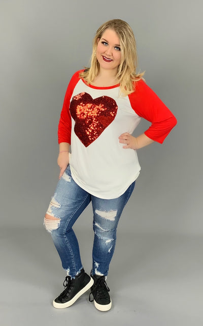 GT-B {The Way To My Heart} White Top with Sequins SALE!!