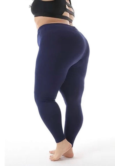 LG-9 {Longing For You} NAVY Cotton/Spandex Leggings PLUS SIZE 1X 2X 3X