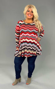 PLS-H {Fun Personality} Red Chevron with Pockets  SALE!!