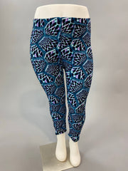 Leg-18 {Roller Rink Party} Multi Print Capri Leggings EXTENDED PLUS SIZE 3X/5X