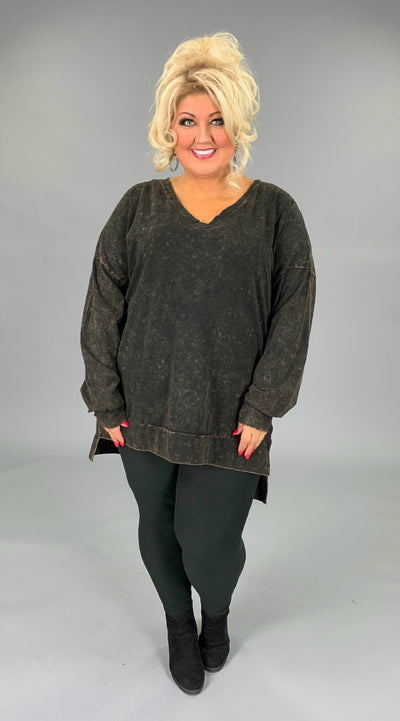 SLS-A {Simply Perfect} Americano Mineral Wash V-Neck Top SALE!