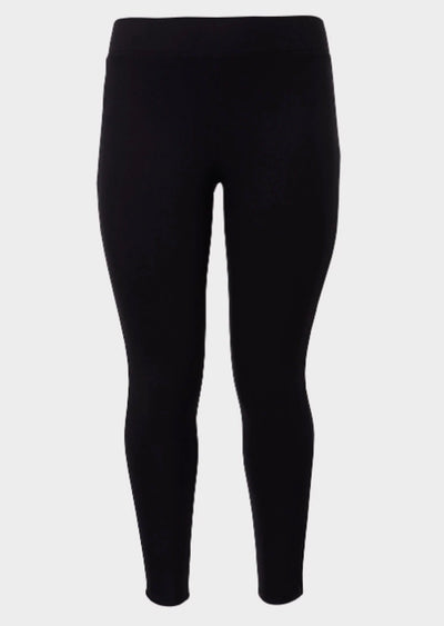 "SLS/31-""SoHo"" Black Poly-Spandex Full Length Leggings"