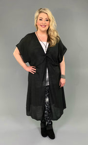 LD-F {Echoes In My Heart} Black Dress with Open Front Detail SALE!