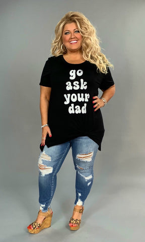 GT-P {Go Ask Your Dad} Black Graphic Tee
