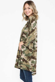 21 OT-G {Hide From Me} SALE!! Olive Moss Camo Print Cardigan PLUS SIZE XL 2X 3X
