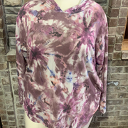 17 HD-X {Just The Usual} SALE!! Mauve Tie Dye Hoodie CURVY BRAND EXTENDED PLUS IZE 3X 4X 5X 6X