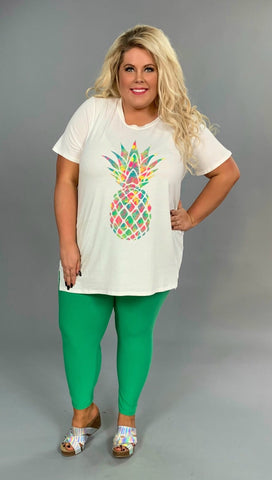 GT-O {Sweet Summer} Multi-Color Pineapple Graphic Tee