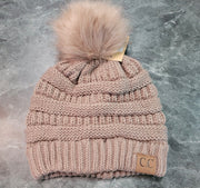 HAT-C.C. Beanie With Fur Ball