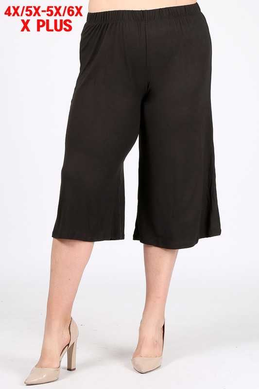 BT-J {Home Bound} Black Butter Soft Gaucho Pants EXTENDED PLUS SIZE 4X/5X 5X/6X