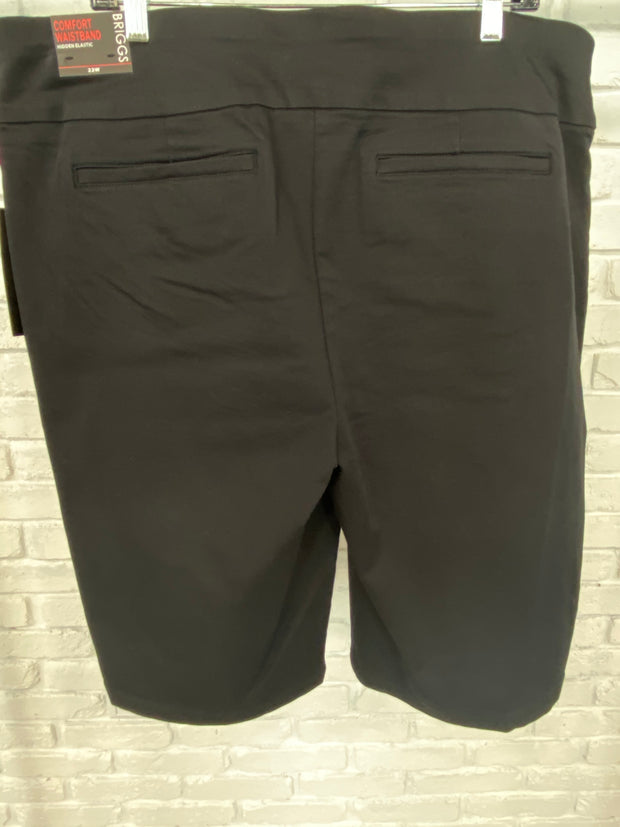BT-N {BRIGGS} Comfort Waistband Black Shorts with Detail