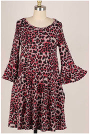 11 PQ-S {Such A Diva} Red Black Leopard Dress PLUS SIZE XL 2X 3X