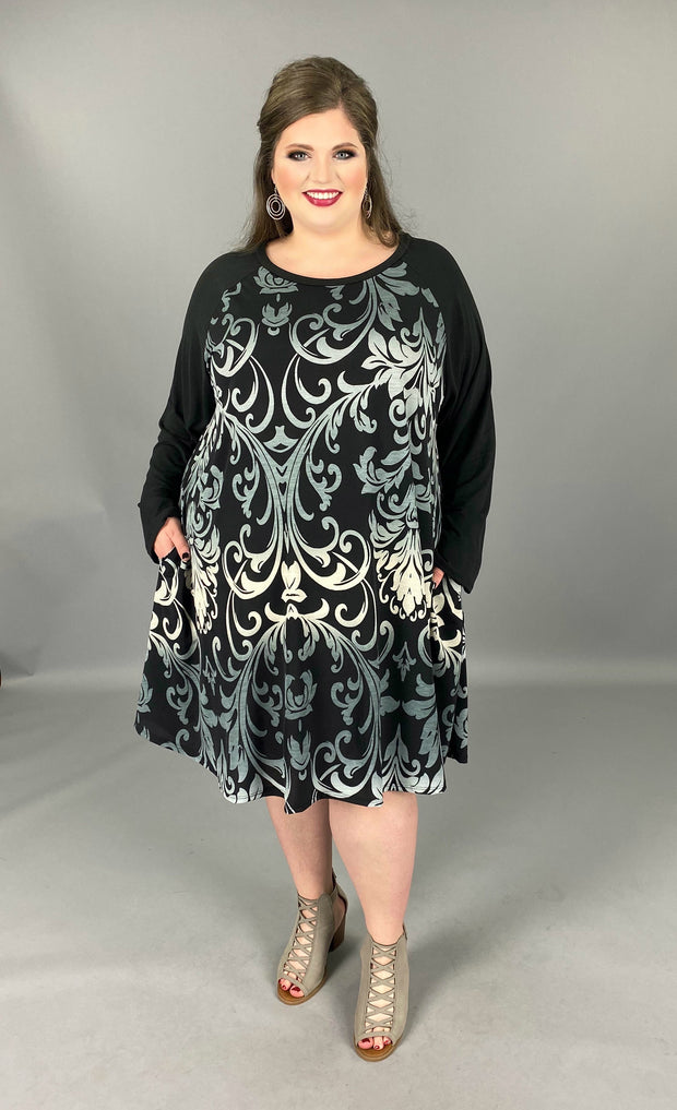 CP-D {Heart Full Of Wonder} Black Dress Ombre Designs Extended Plus