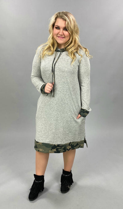 10-22 HD-G {Take Action} Grey Olive Camo Hoodie PLUS SIZE XL 2X 3X