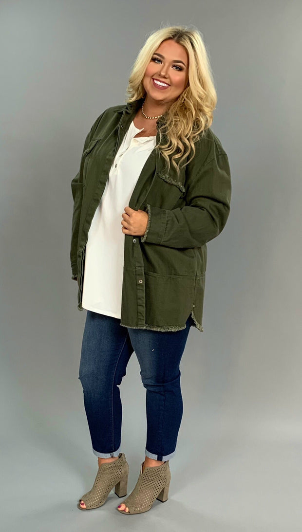 "OT-R ""UMGEE"" Olive Green Snap Up Army Jacket with Pockets SALE!!"