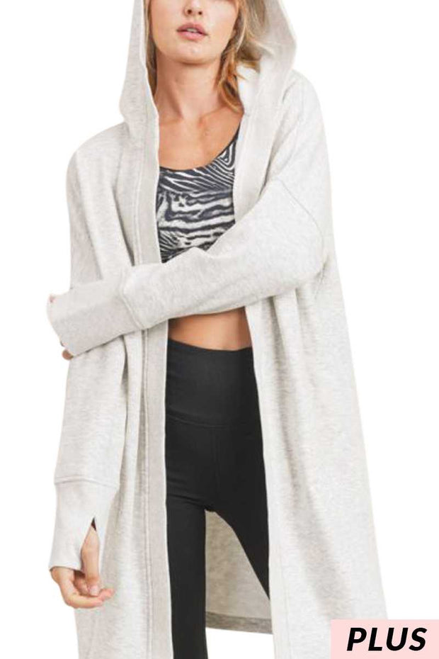 24 OT-C {Timeless Love} SALE!!  Ivory Mix Hooded Cardigan PLUS SIZE 1X/2X 2X/3X
