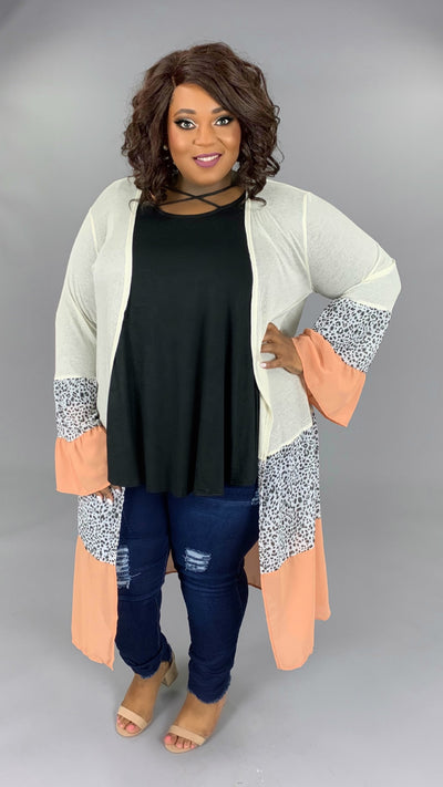 OT-K {Something In The Way You Move} Contrast Cardigan PLUS SIZE 1X 2X 3X