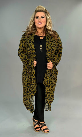 OT-H {Fashion Obsessed} Animal Print Knit Cardi Extended Plus  SALE!!