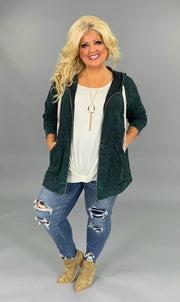 HD-P {Worth The Wait} Forest Green Mineral Wash Hoodie Jacket SALE!!