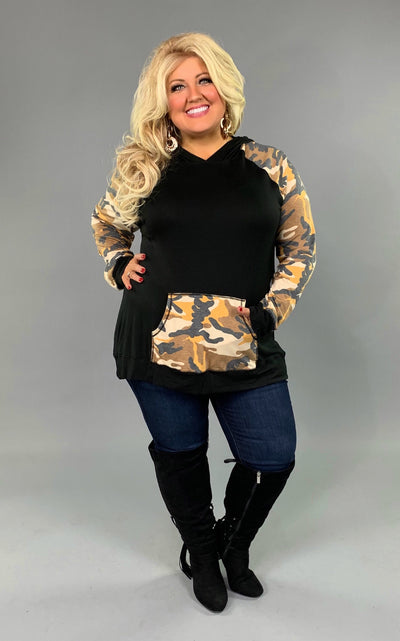 HD-X {Game Changer} Black/Mustard Camo Contrast Hoodie