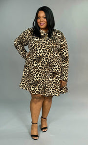 PLS-H {Wild & Free} Leopard Print with Side Pockets Extended Plus  SALE!!
