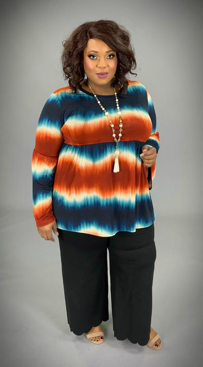 PLS-A {Spill Your Secret} Rust/Blue Gradient Dye Tunic  SALE!!