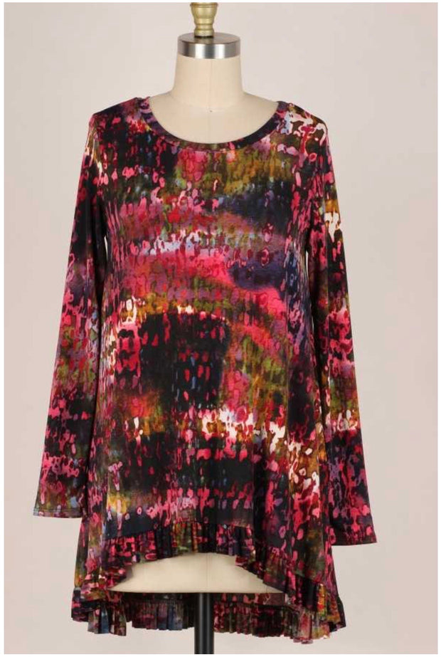 34 PQ-J {Not The Last} Multicolor Printed Top PLUS SIZE XL 2X 3X