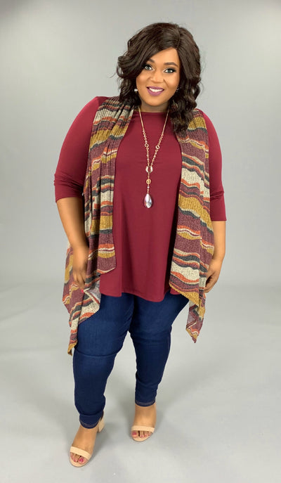 OT-X {Into The Groove} Asymmetrical Multi-Print Vest SALE!!