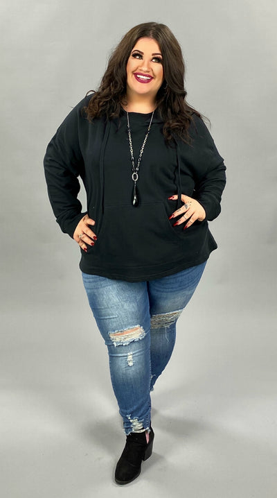 19 HD-B {Turning Heads} SALE!!  Black Hoodie PLUS SIZE XL 2X 3X