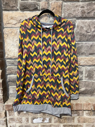 HP-P Gray/Mustard Chevron Print SALE!!