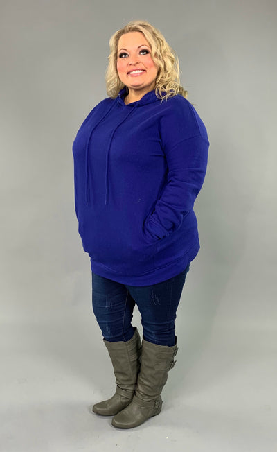 HD-C {Having A Blast} Royal Blue Long Hoodie with Pockets SALE!