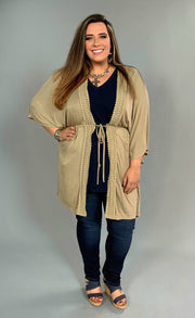 OT-P {Be Humble & Kind} Mocha Open Cardigan With Embroidery SALE!!