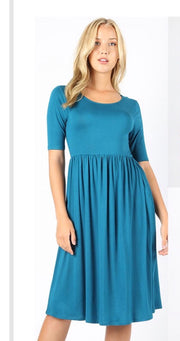SSS-C (One Step Higher) Teal Dress With Empire Waist SALE!!