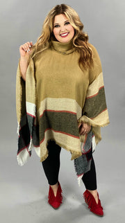 37 OT-B {Set Up} SALE!!  Camel Red Poncho ONE SIZE