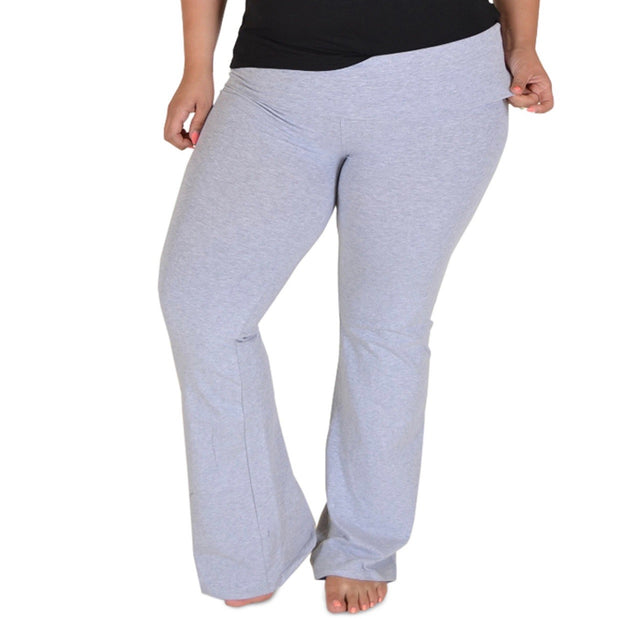 BT-Y {Give Me A Chance} Gray High Waist Yoga Pants  PLUS SIZE
