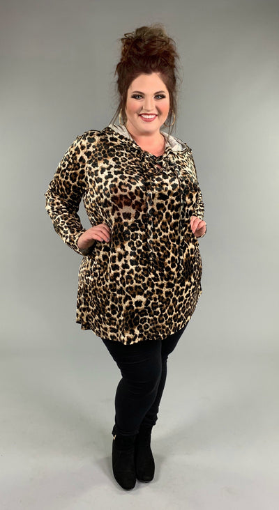 HD-T/H {Wild Thang} Leopard Velvet Top with Hood {Extended Plus} Corset Detail