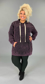 HD-Z {Bonfire Nights} Blackberry Mineral Wash Hoodie SALE!