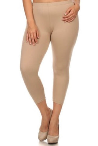 LEG/19- {I'm Clueless} Nude Capri Length Stretchy!