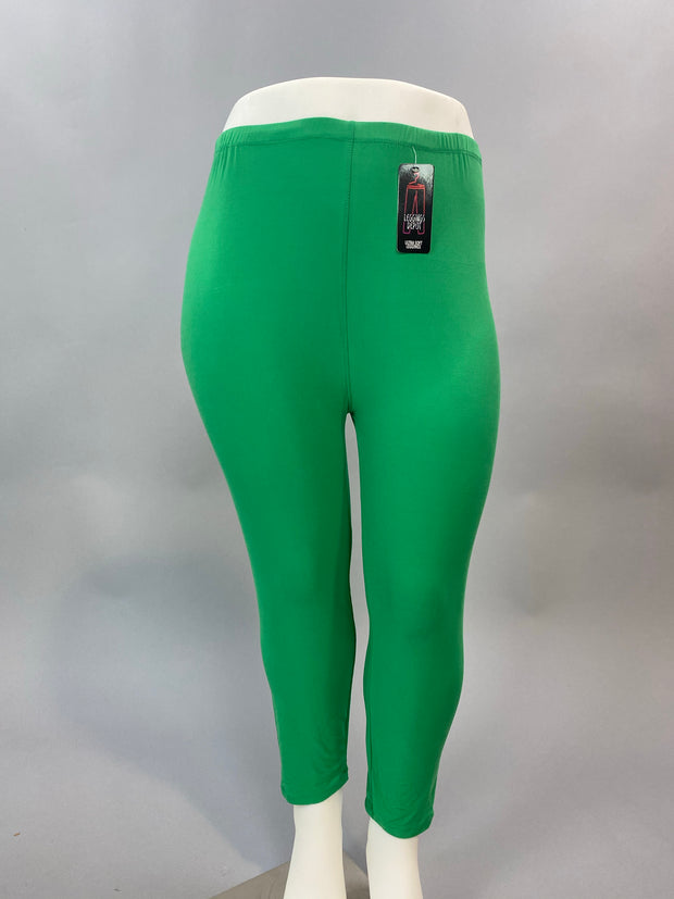 PLS/Z-Green Leggings (92% Poly/8% Spandex) EXTENDED PLUS SIZE 3X/5X