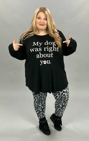 "11-10 GT-C {Dog's Right} Black ""My Dog Was Right"" Top CURVY BRAND EXTENDED PLUS SIZE 3X 4X 5X 6X"