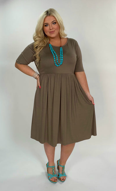 SSS-D (One Step Higher) Mocha Dress With Empire Waist
