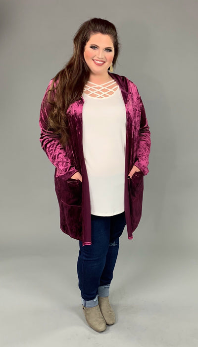 OT-O {Wow That's Gorgeous} Soft Velvet Cardigan with Hood SALE!