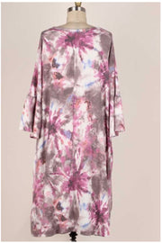 11 PQ-X {I Spy Tie Dye} Purple Grey Tie Dye Dress EXTENDED PLUS SIZE 4X 5X 6